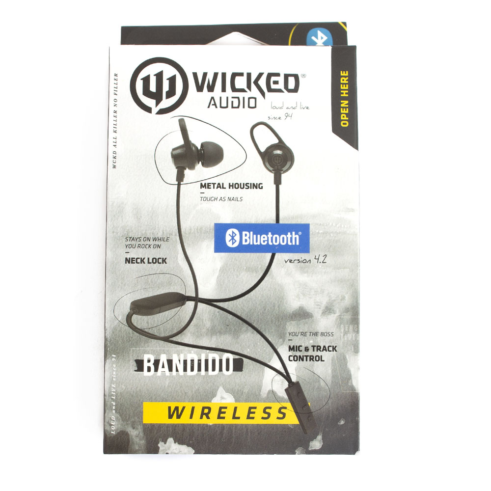 Wicked, Bandito, Bluetooth, Earbud, Black