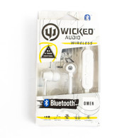 Wicked, Omen, Bluetooth, Earbud, White