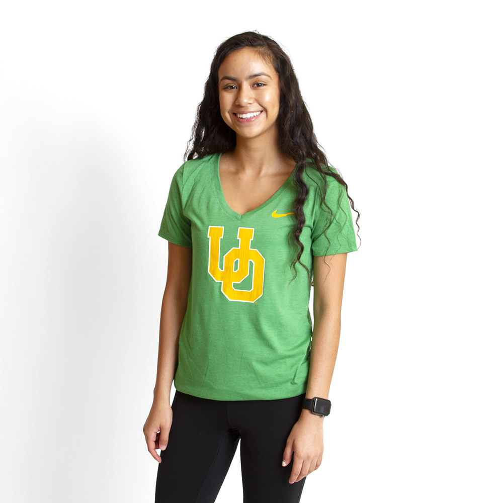Interlocking UO, Women's, Nike, Tri-Blend, V-Neck, T-Shirt