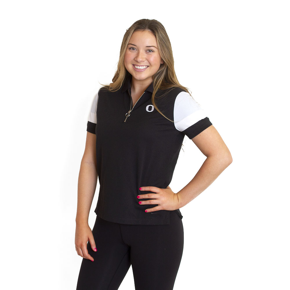 Classic Oregon O, Women's, Nike Golf, Zip, Polo