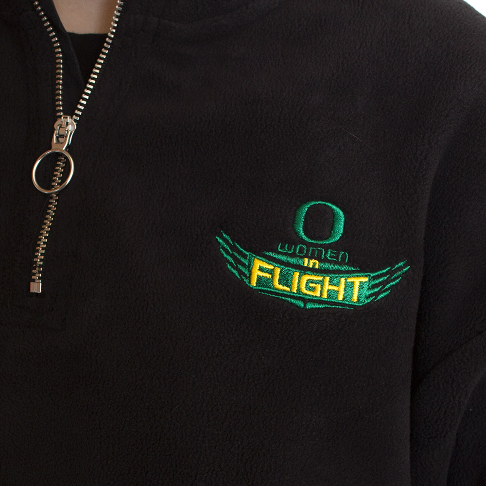 Classic Oregon O, Women in Flight, Nike Golf, Therma, 1/2-Zip, Sweatshirt