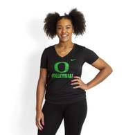 Classic Oregon O, Women's, Nike, Dri-FIT, Legend, V-Neck, T-Shirt