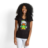 Tokyodachi Duck, V-neck, Cotton