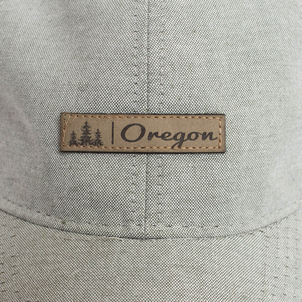 Oregon, Legacy, Leather Patch, Hat
