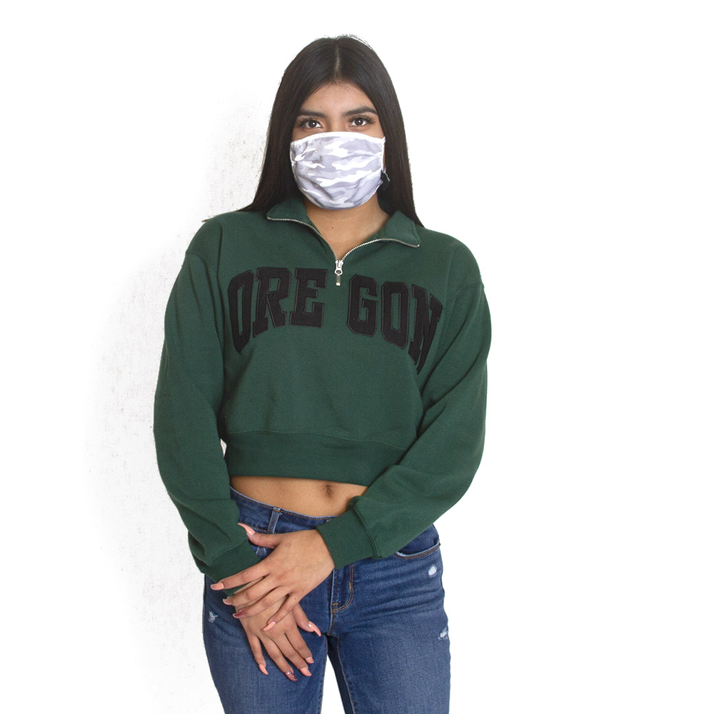 Oregon, Women's, Zoozatz, Crop, Pullover, Sweatshirt
