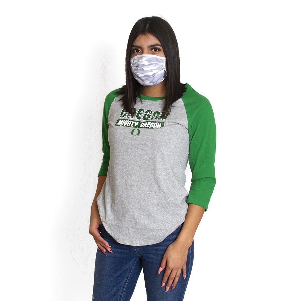 Women's, Oregon, Mighty Oregon, Nike, Raglan, T-Shirt