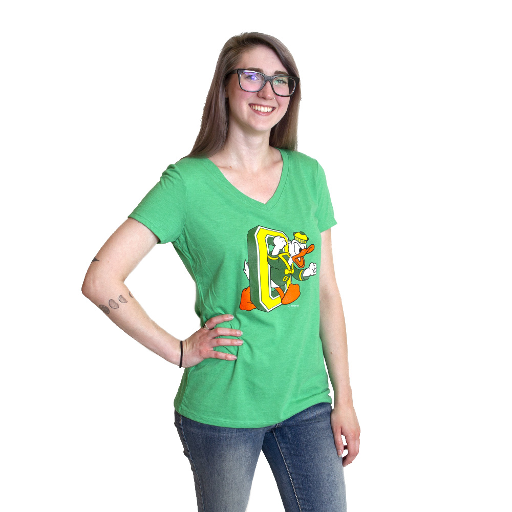 Duck through O, DTO, Women, Full Color, Crew Neck, Short Sleeve, T-Shirt