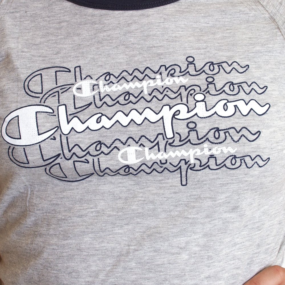 Champion, Repeat Patter, Slub, Ringer, Women's, T-Shirt, Logo