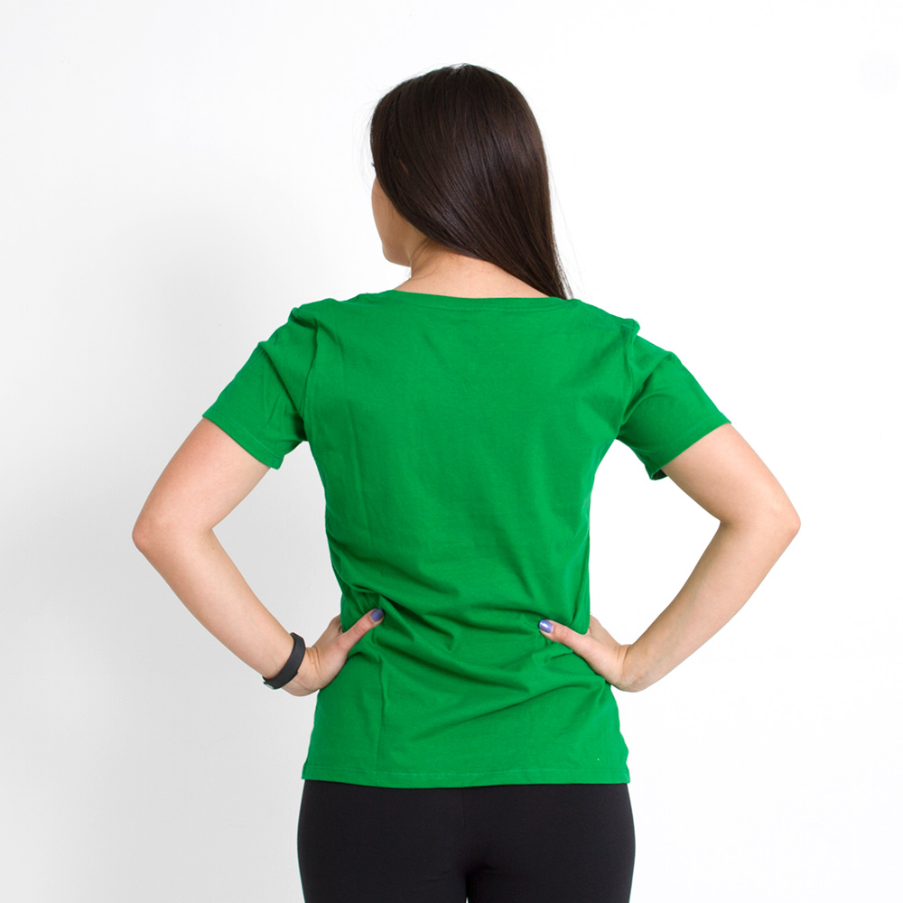 Fighting Duck, Basic, Nike, Scoop Neck, T-Shirt, Apple Green, Back