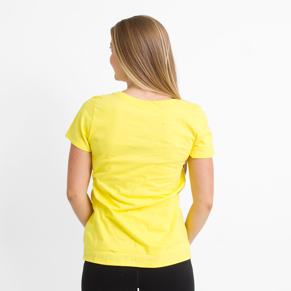 Fighting Duck, Basic, Nike, Scoop Neck, T-Shirt, Yellow, Back