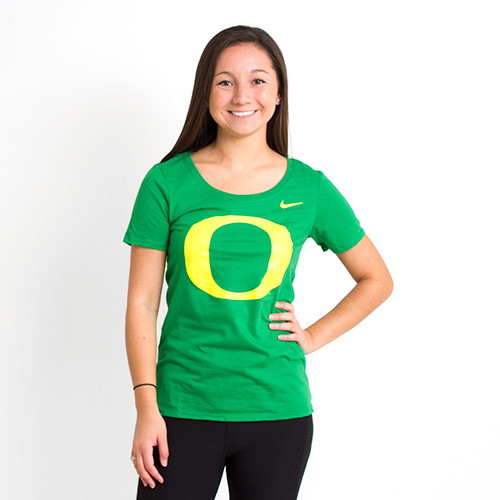 Classic Oregon O, Women's, Nike, Basic, Cotton, T-Shirt