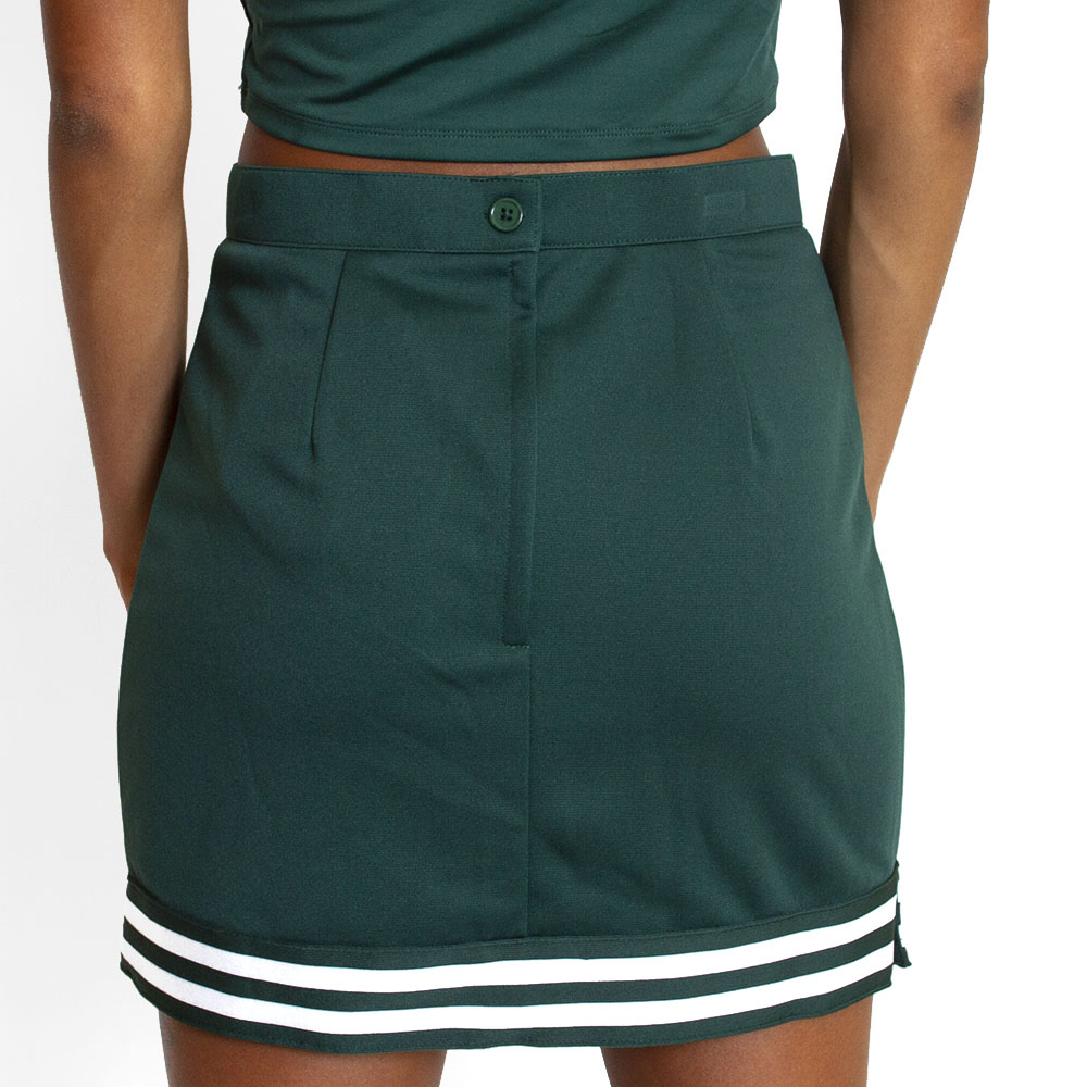 Cheer Style, Women's, V-Notch, Stripe, Skirt, Green, Rear