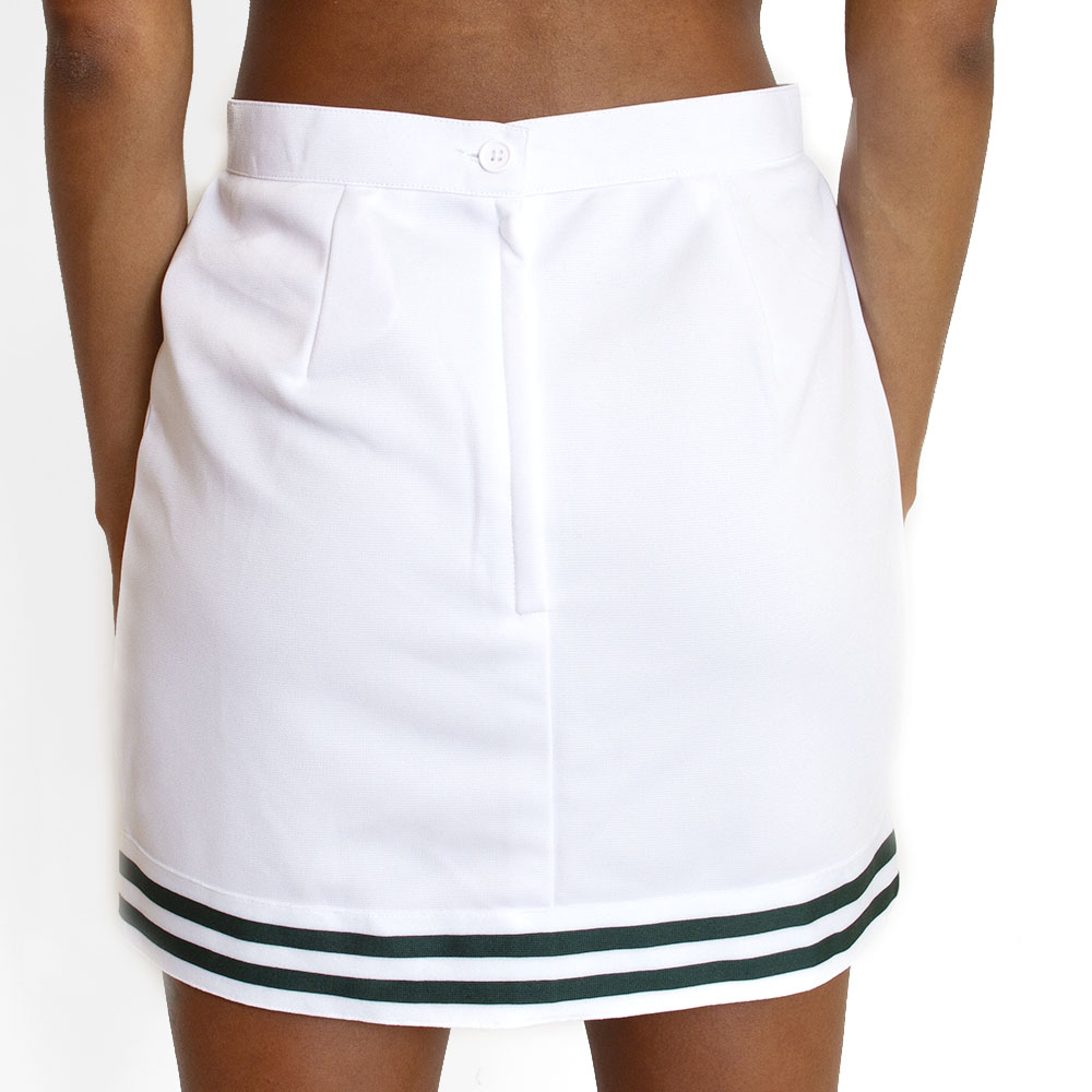 Cheer Style, Women's, V-Notch, Stripe, Skirt, White, Rear
