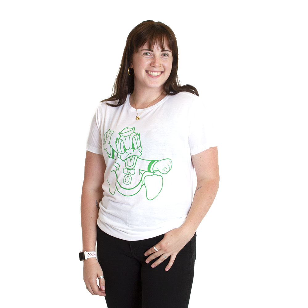 Women's, McKenzie SewOn, Charging Duck, T-Shirt