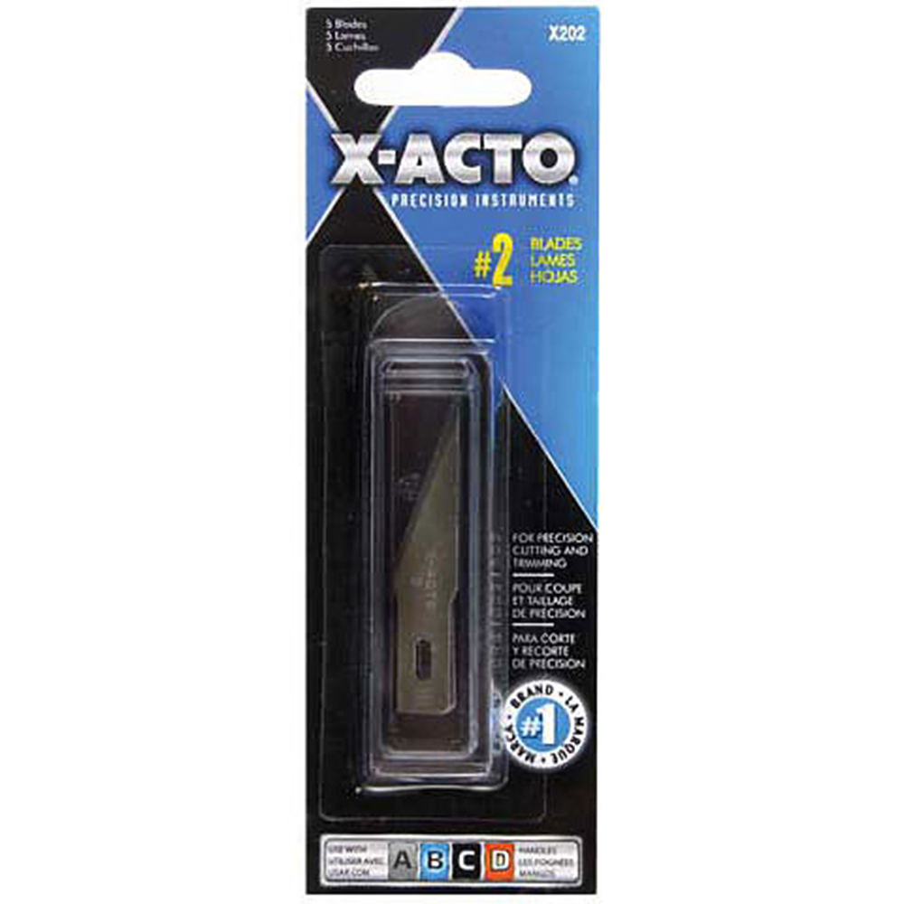 X-Acto, #2, Blade, 5 Pack