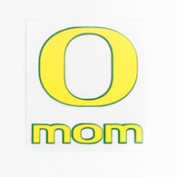 Yellow & Forest Green O Mom Decal