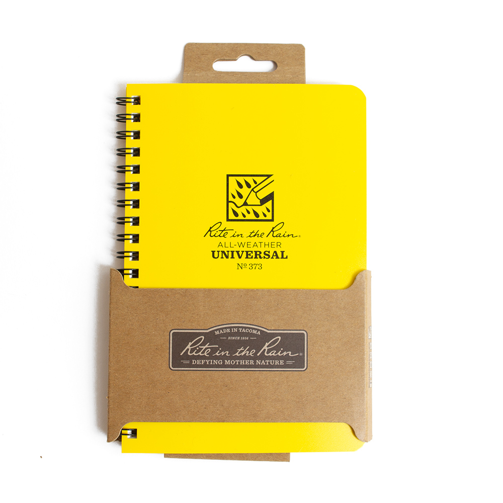 Yellow Cover Rite in the Rain Side-Spiral Universal Pages