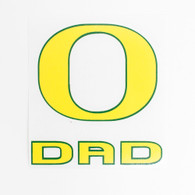 Yellow Forest Green O Oregon Dad Decal