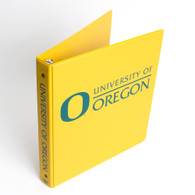 Yellow Four Point University of Oregon Vinyl Binder 1