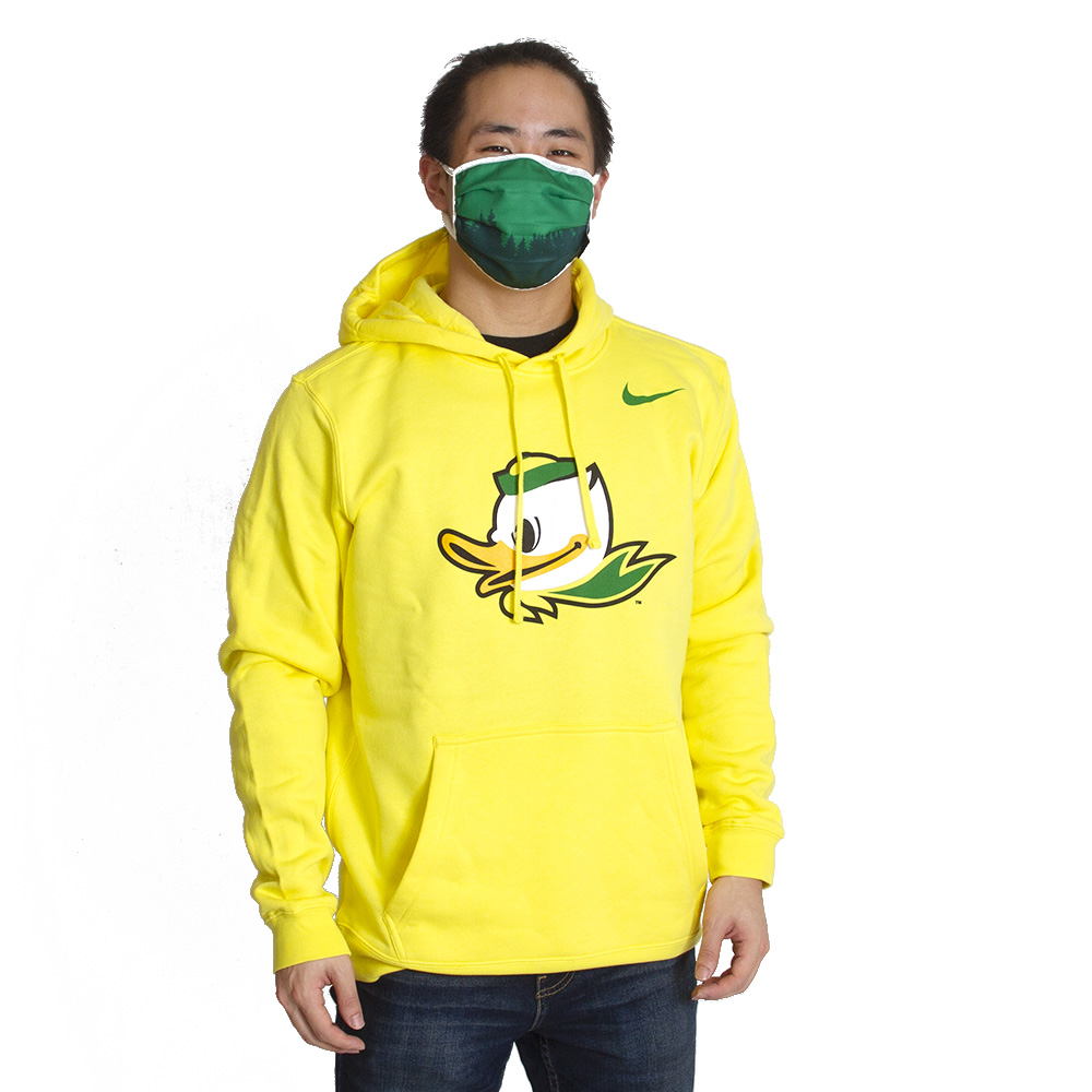 Fighting Duck, Nike, Club Cotton, Hoodie