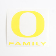 "O-logo, Yellow, Decal, 4""x4"", Family"