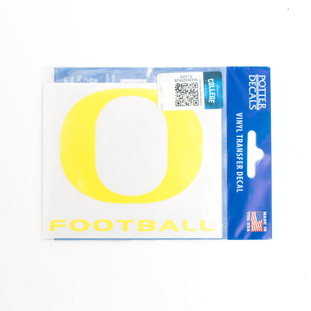 O-logo, Yellow, Decal, Football