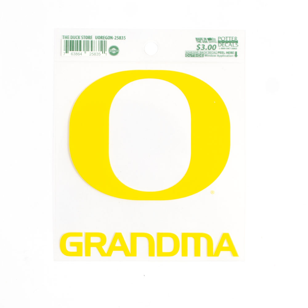 Classic Oregon O, Decal, Grandma