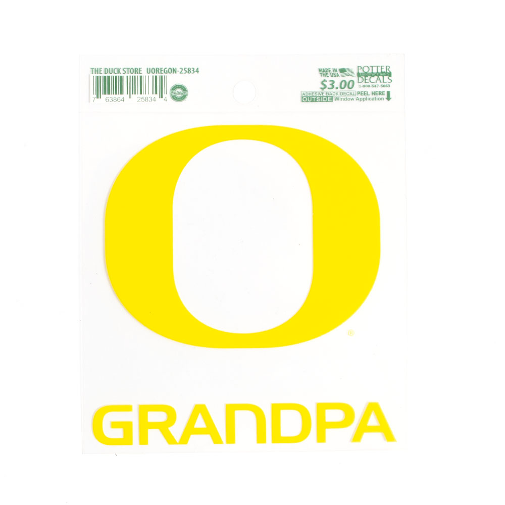 Classic Oregon O, Decal, Grandpa