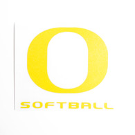 "Classic Oregon O, Softball, Decal, 4""x4"""