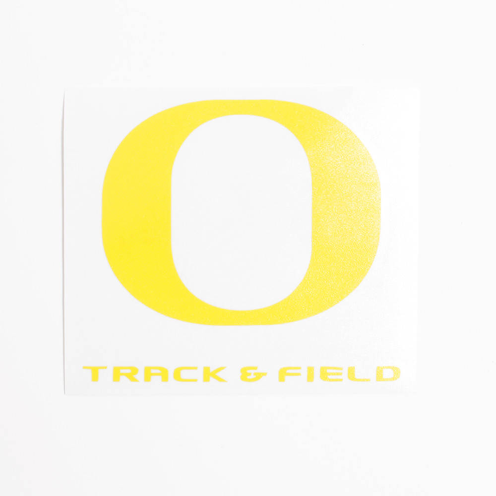 "Classic Oregon O, Track & Field, Decal, 4""x4"""
