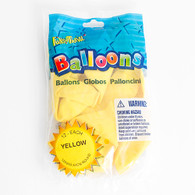 Yellow Pioneer Latex Balloons 12 12pc