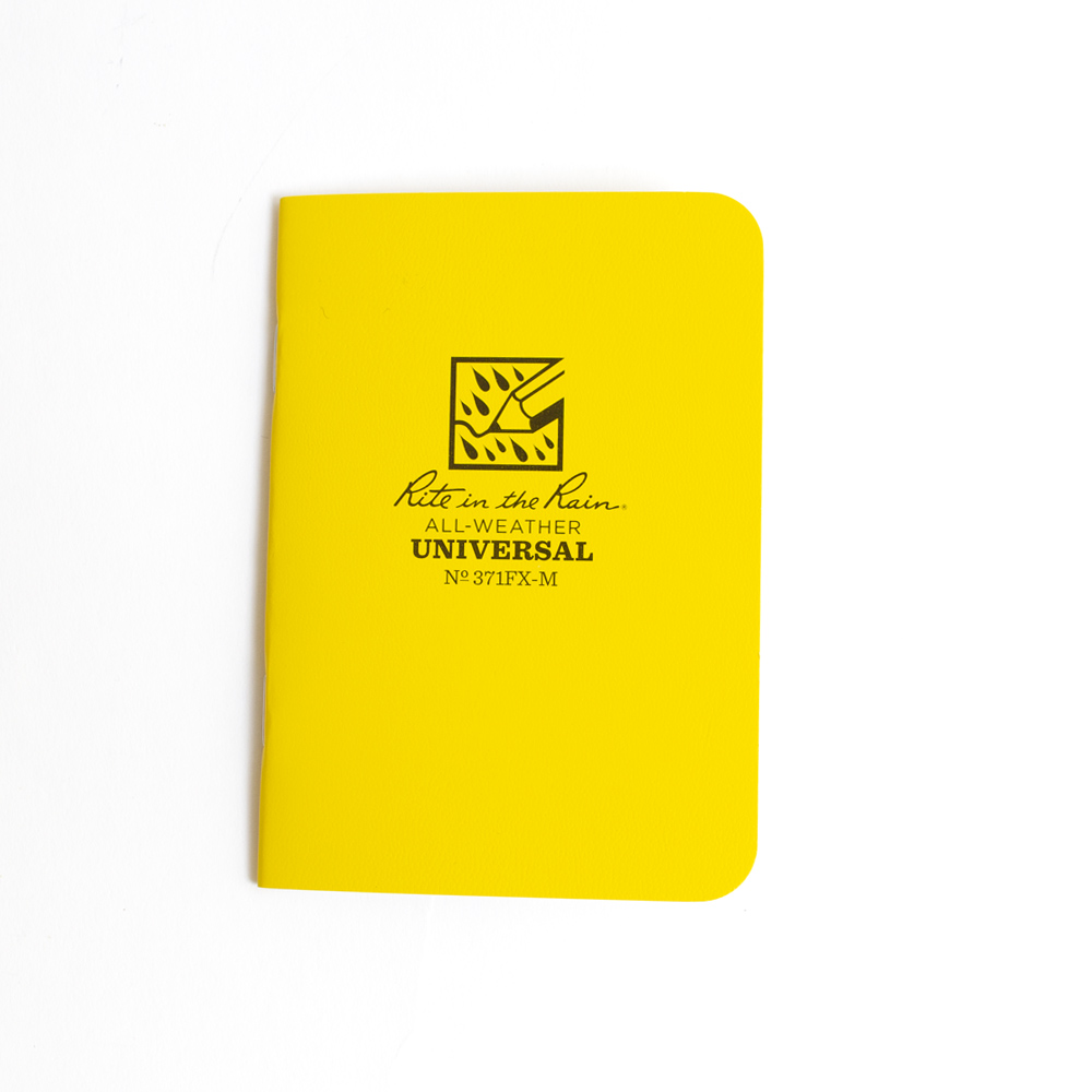 Yellow Rite in the Rain Mini-Stapled Notebook Universal