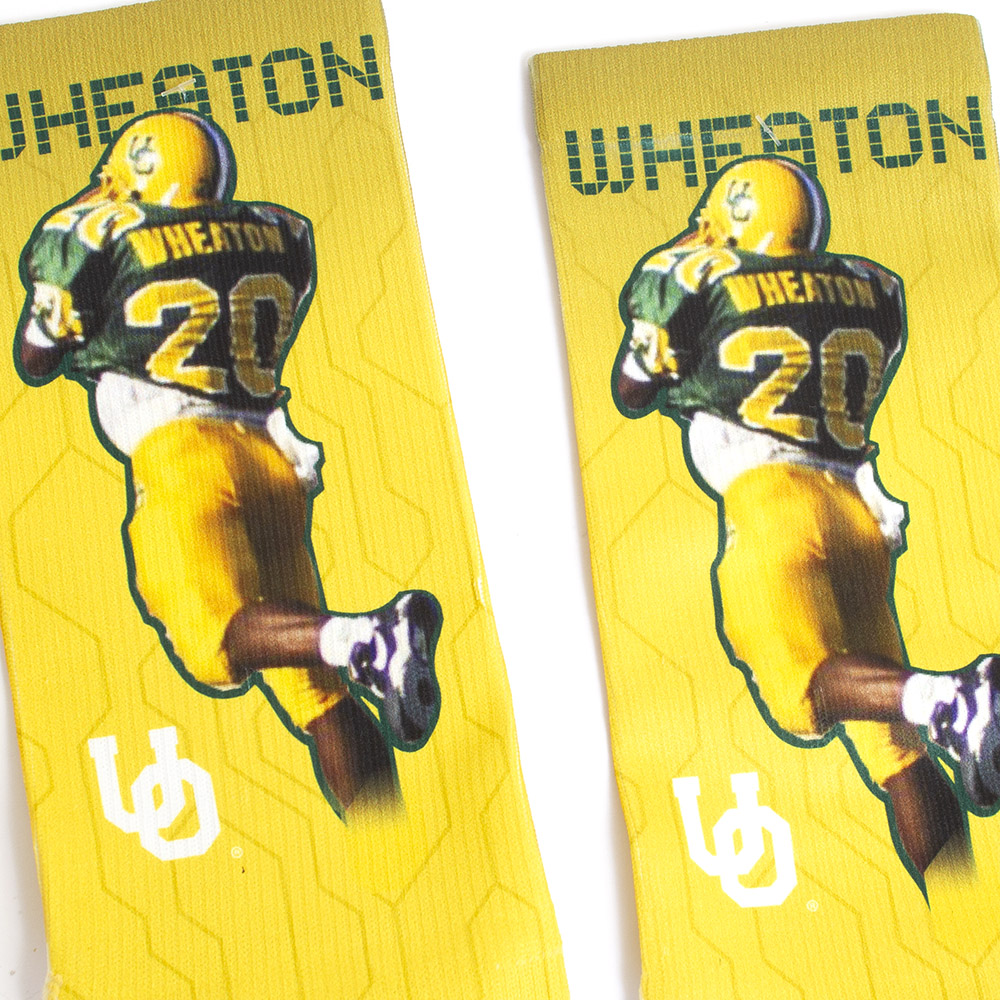 Strideline, The Pick, Kenny Wheaton, #20, Sock, Sublimated