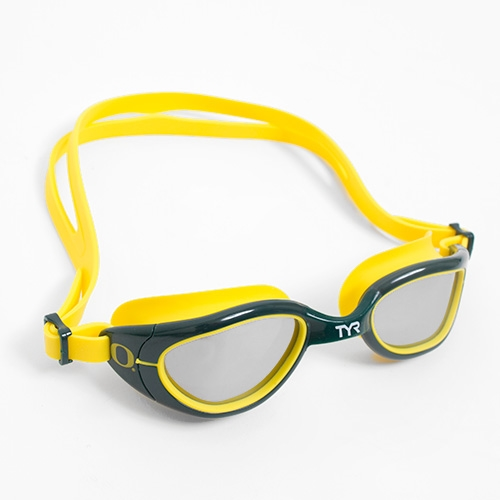 Yellow TYR O in Forest Swimming Goggles