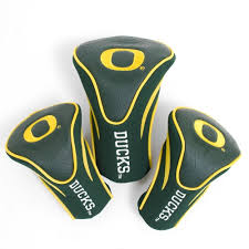 Yellow and Forest Green 3pk Contour Golf Head Covers