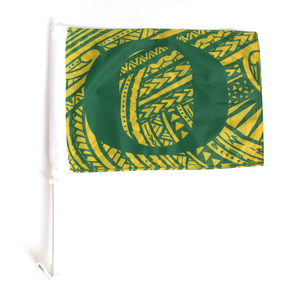Classic Oregon O, School Colors, Car Flag