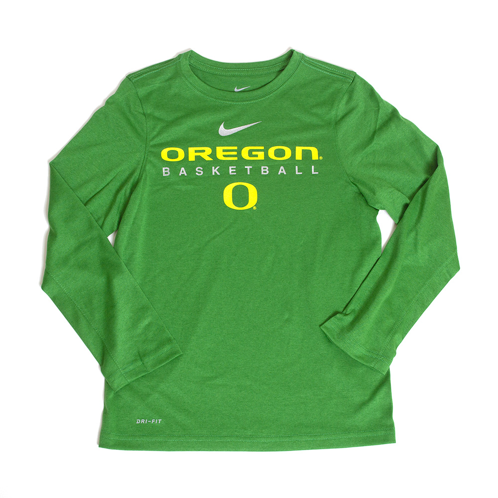 Classic Oregon O, Oregon, Basketball, Youth, Nike, Long Sleeve, T-Shirt