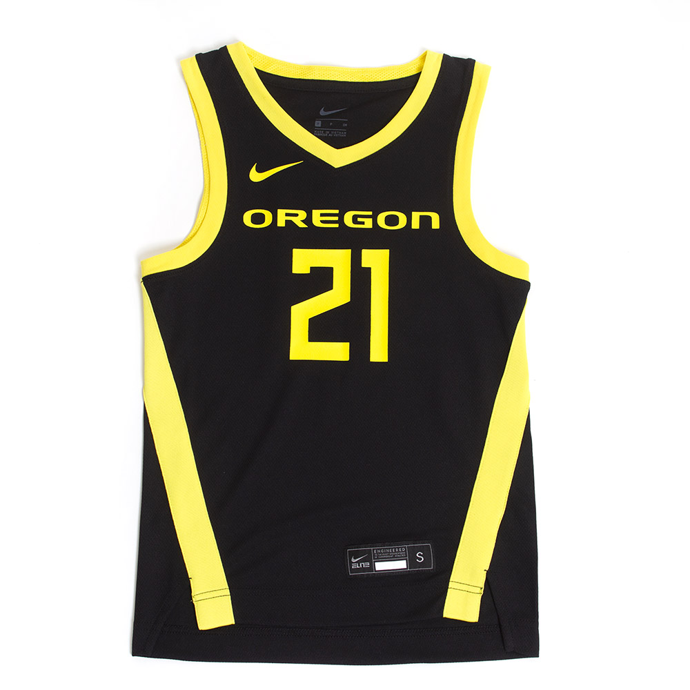 Youth, Nike, Oregon, #21, Basketball, Replica, Jersey