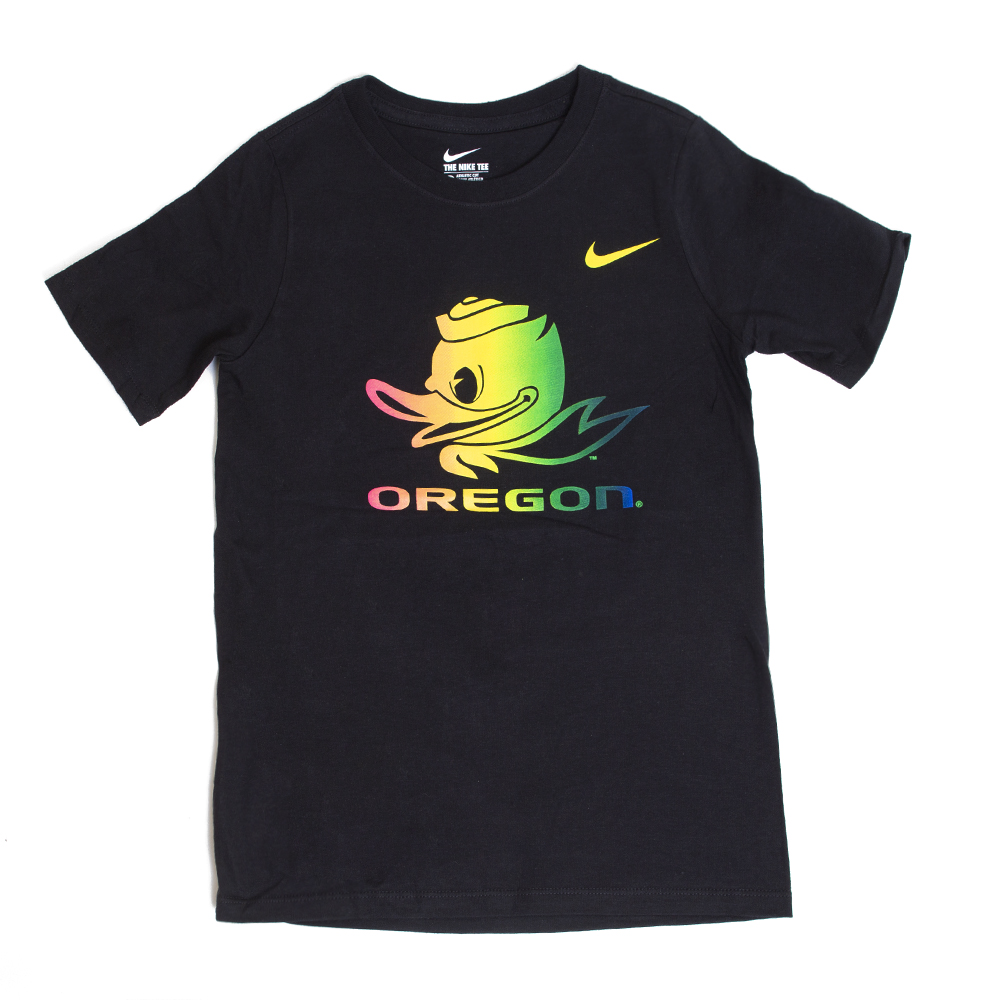 Fighting Duck, Youth, Nike, Rainbow, Be True, T-Shirt
