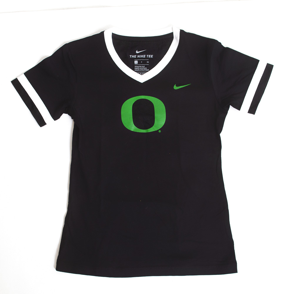 Classic Oregon O, Nike, Youth, Girls, Sideline, V-Neck, T-Shirt