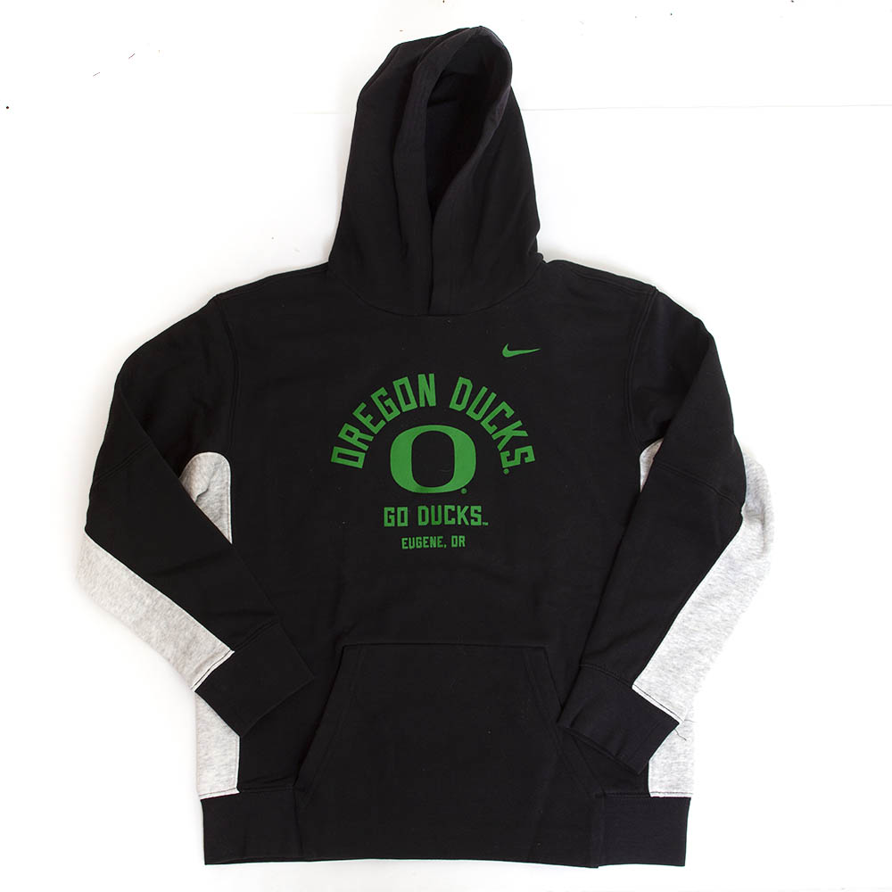 Classic Oregon O, Oregon Ducks, Youth, Nike, Sideline, Hoodie