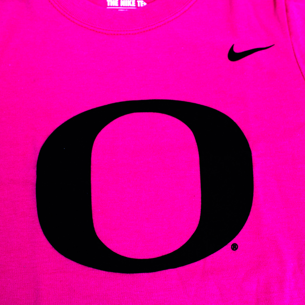 Youth Girls Pink Nike Black O Tee