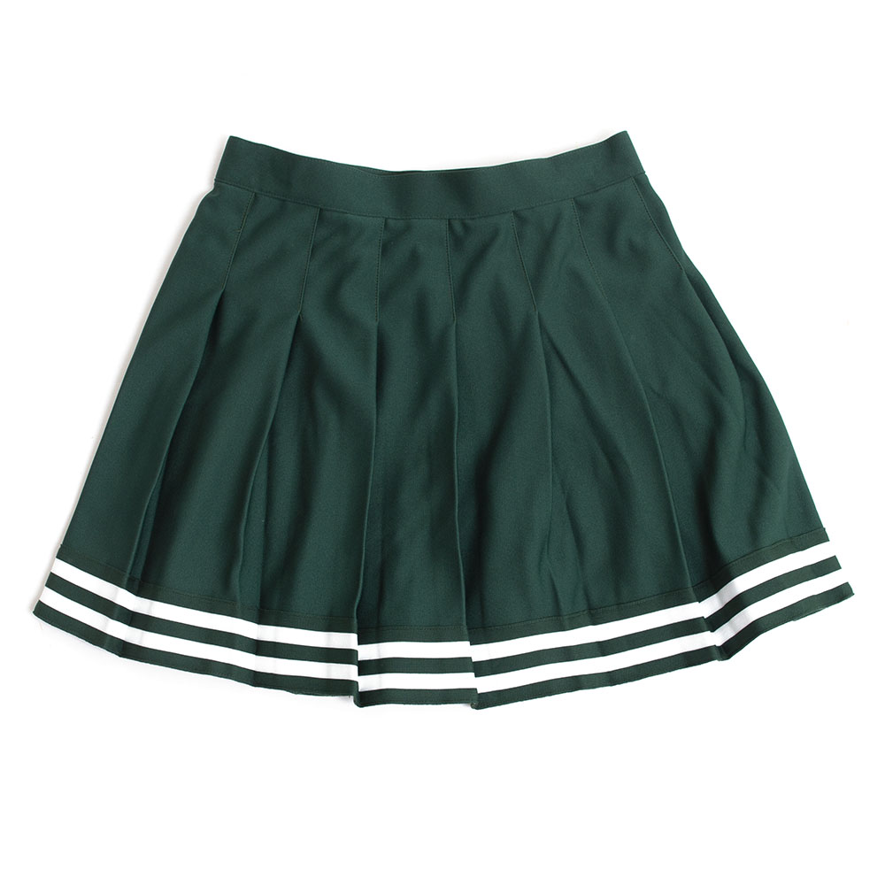 Youth, Green, Pleated, Cheer Style, Skirt