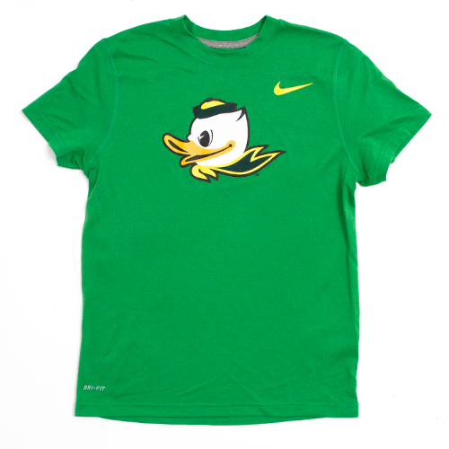 Youth Kelly Green Nike Duck Face DriFIT Tee