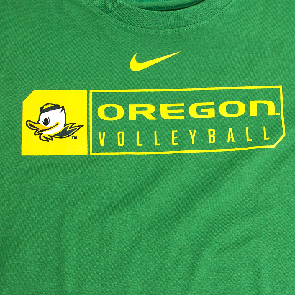 9fbdc1af76 Youth Kelly Green Nike Duck Face Oregon Volleyball T-Shirt