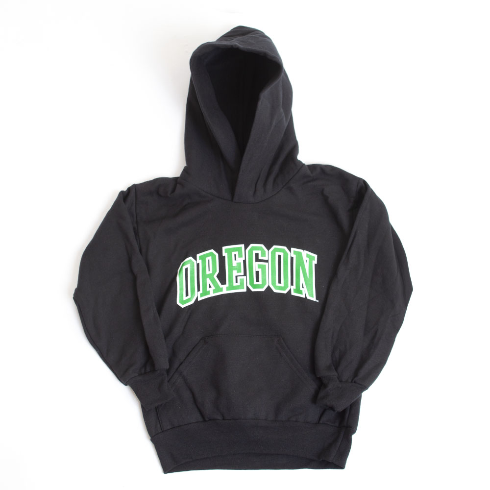 Youth, McKenzie SewOn, Arched Oregon, Hoodie, Black