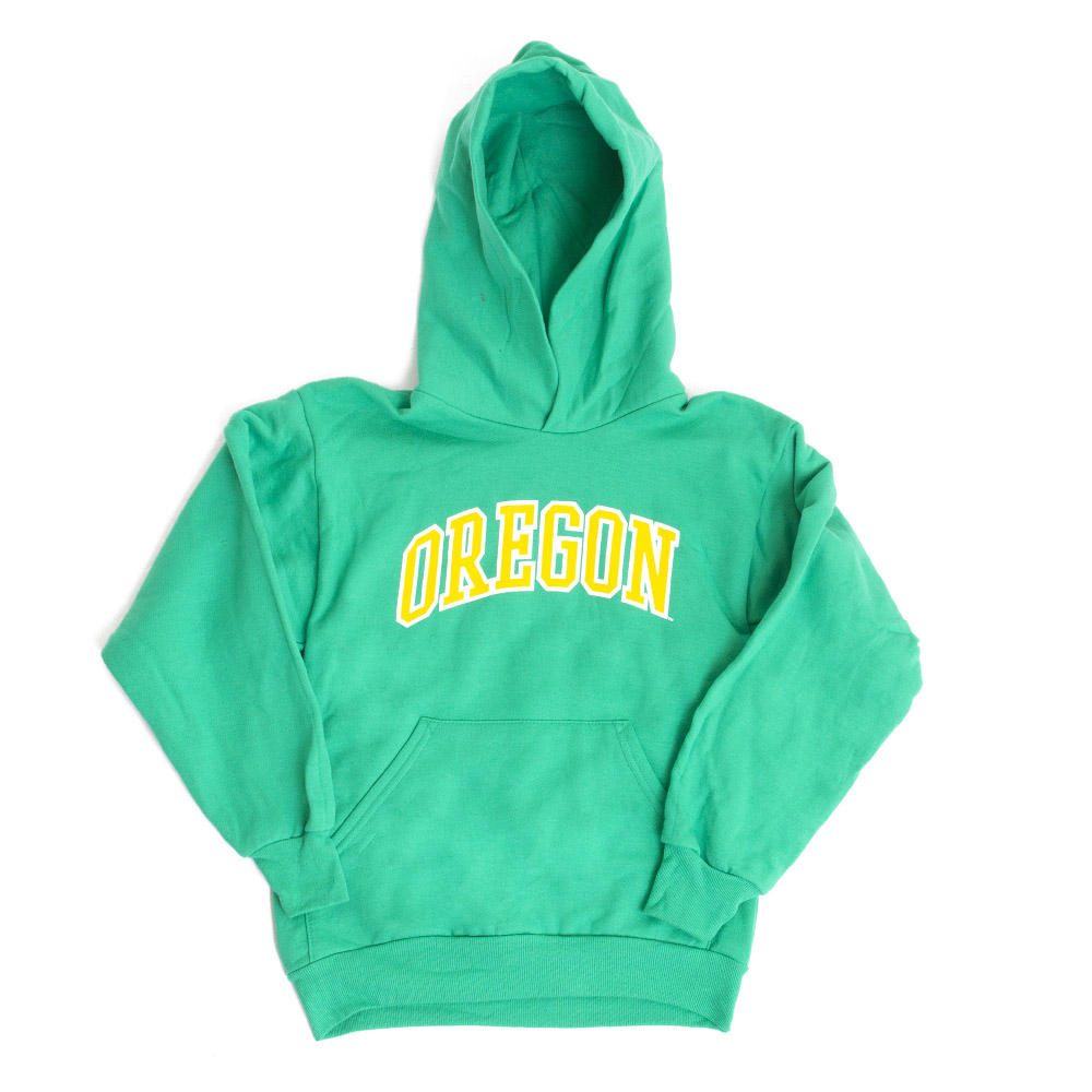 Youth, McKenzie SewOn, Arched Oregon, Hoodie, Kelly Green