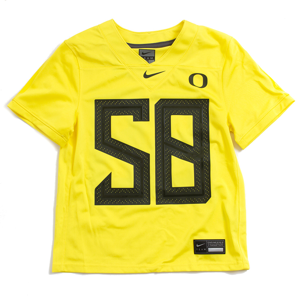 Youth, Classic Oregon O, Nike, 2020, Replica, Jersey, #58