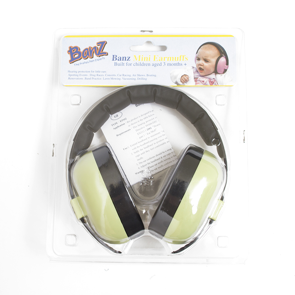 Infant, Hearing Protection, Green